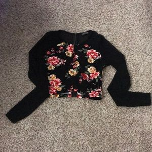 Fashionova flowered crop